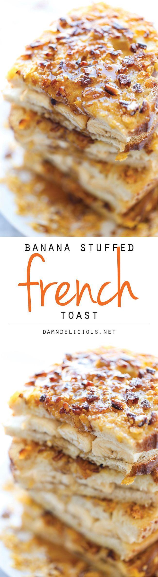 Banana Stuffed French Toast -