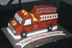 It's Getting Hot! Firetruck Birthday Cake