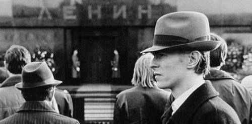 David Bowie. Photo by Andrew Kent. Moscow, Lenin's Mausoleum, April 22 1976.