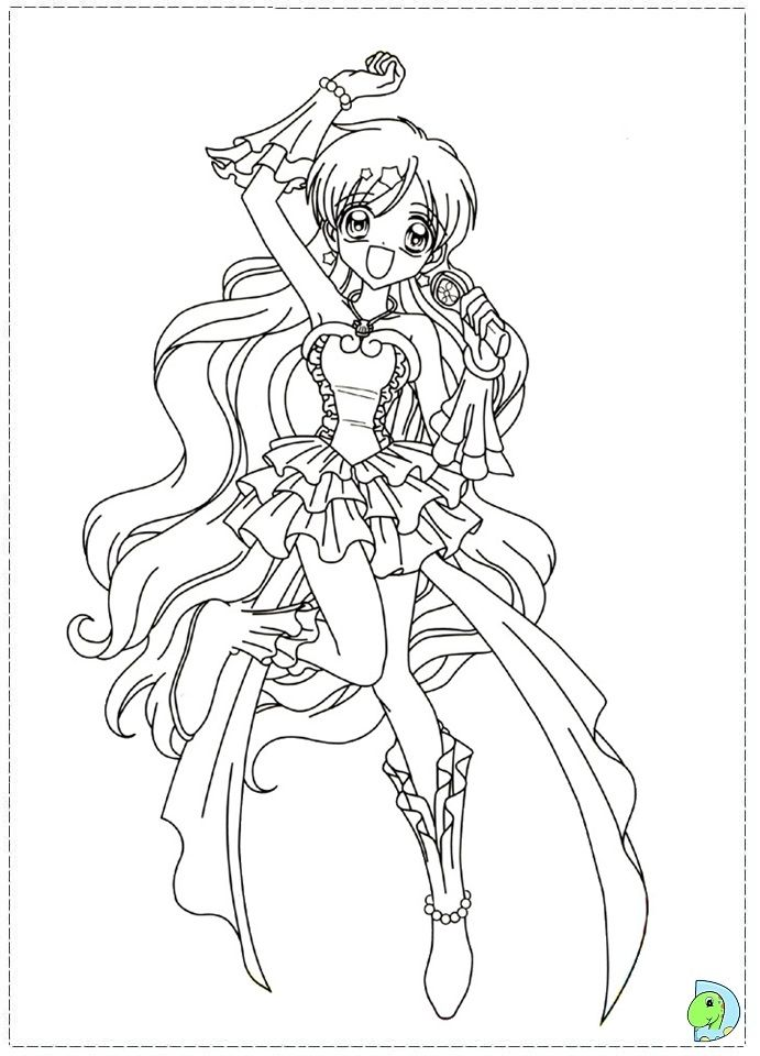 Mermaid Melody coloring page DinoKids