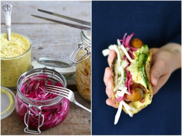 Grain free hotdogs with homemade remoulade and pickled cabbage - A tasty love story