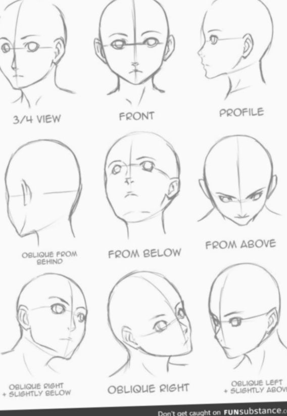 9 Anime Face Angles Character Design Drawing Heads Anime Face Drawing Art Reference