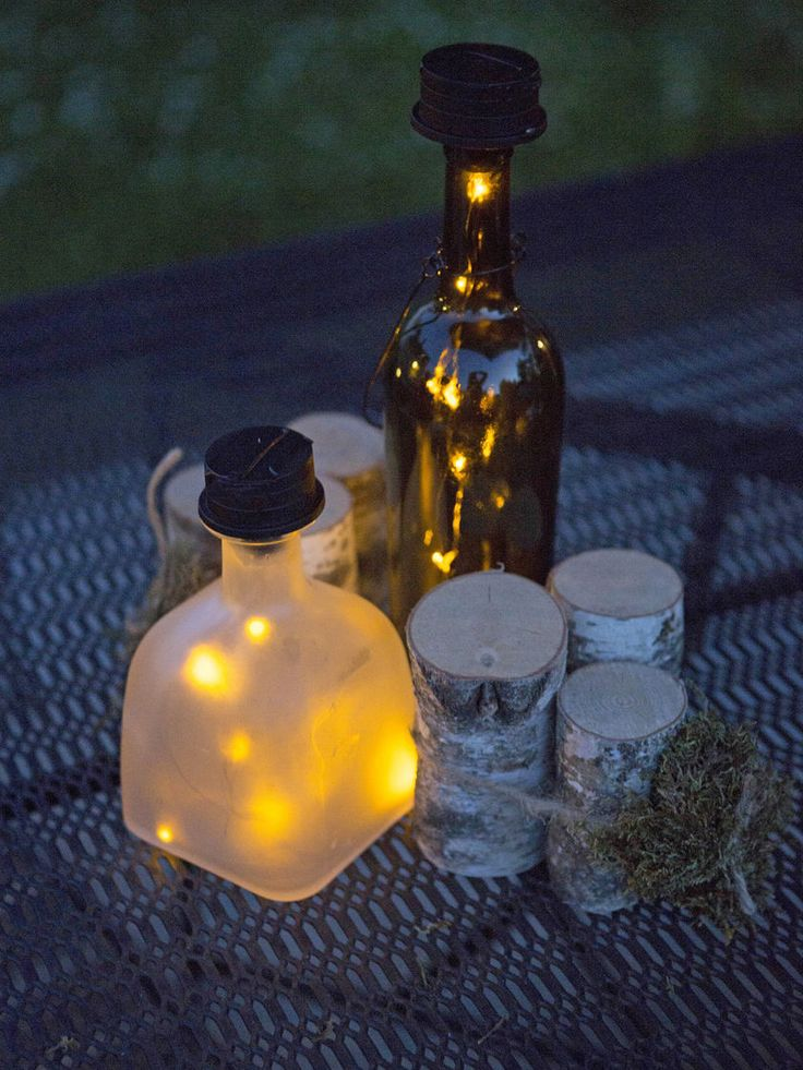 Solar Lantern - Solar Bottle Lantern Kit - Wine Bottle Lights
