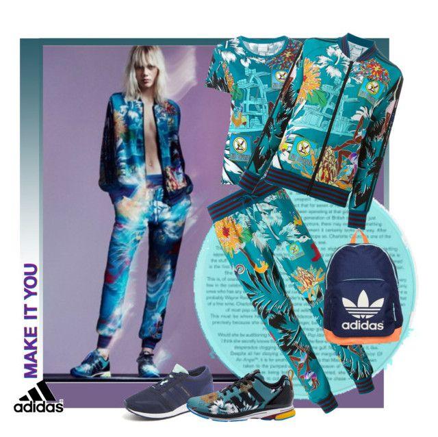 """Adidas Originals X Mary Katrantzou"" by sylandrya ❤ liked on Polyvore"