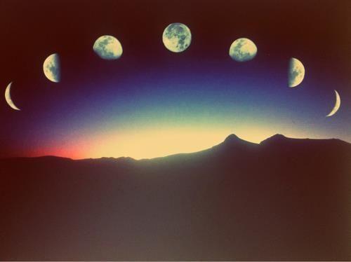 Fases lunares y espectro electromagnético