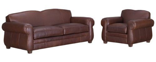 """Chelsea """"Designer Style"""" Leather Queen Sleeper Sofa Set . $3933.60. YOU SAVE $50.00! Includes 1 Leather Queen sleeper sofa (pictured), 1 leather club chair (pictured), and 1 standard leather ottoman (not pictured). See individual pieces for dimensions. Available in 20 distinct leather colors and 2 leg color choices. * Seat Height 18.5""""/Arm Ht. 26.5"""" * Select Kiln Dried Frames * 100% Top Grain Leather * 5.25 Inch Kingsdown® Mattress * Removable & Zippered Seat..."""