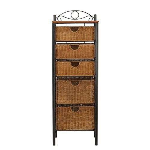 A perfect balance between function and design, this beautiful 5-drawer wicker storage unit accents any traditional décor. The black frame and oak top are enhanced by the abundant wicker baskets. On the bottom, two larger baskets provide storage for larger items like bed sheets, toilet paper or ... more details available at https://furniture.bestselleroutlets.com/bedroom-furniture/dressers/product-review-for-southern-enterprises-5-drawer-storage-unit-with-wicker-baskets-black