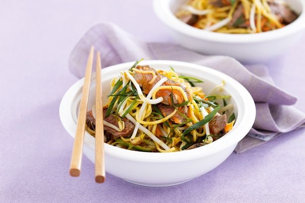 Asian beef noodle salad