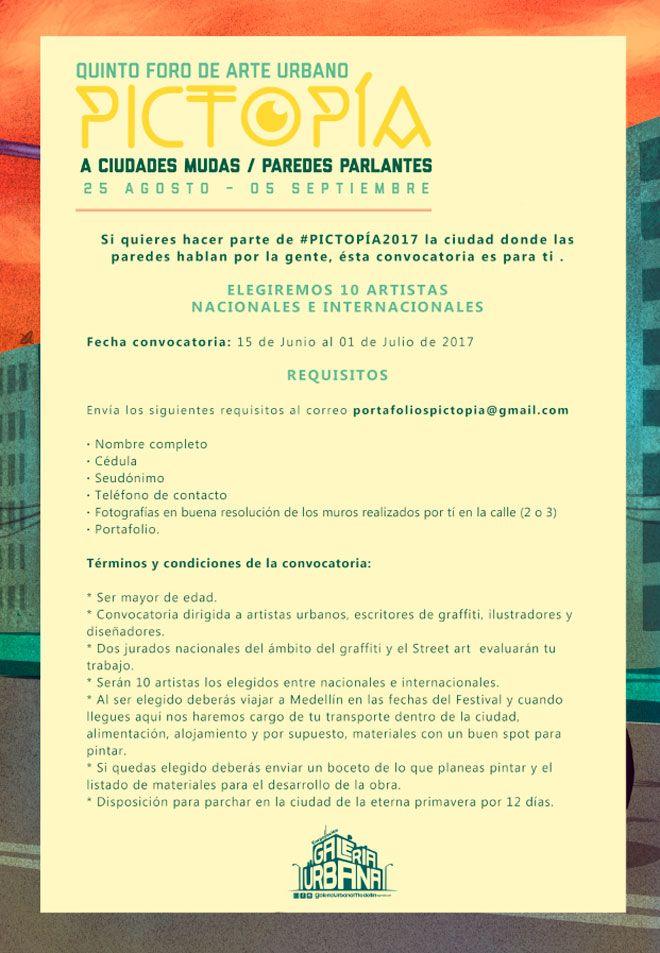 Hasta el próximo 1 de Julio se encuentra abierta la convocatoria Nacional e Internacional para participar de PICTOPÍA 2017