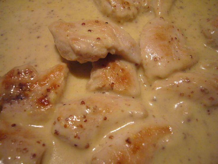 Aiguillettes de poulet sauce moutarde a lancienne