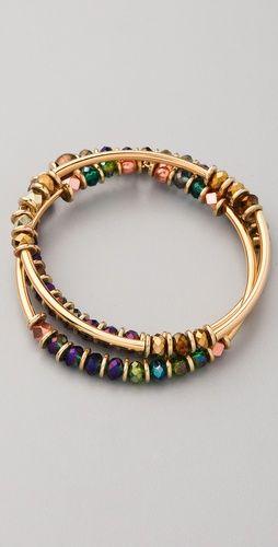 Multi colour bead bracelet
