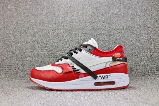6849e44db352 Off-White x Nike Air Max 1  Red White  AA7293-101