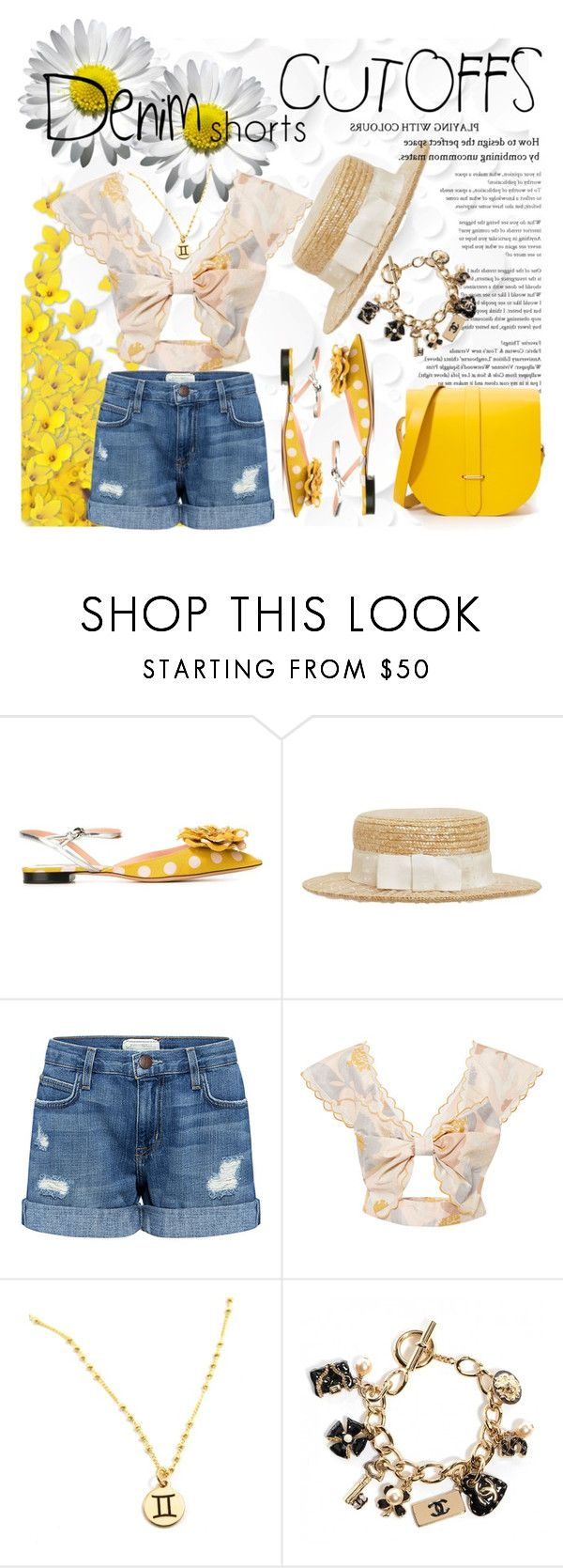 """""""Denim shorts - preppy style"""" by cool-cute ❤ liked on Polyvore featuring Rochas, Kreisi Couture, Current/Elliott, Alice McCall, The Cambridge Satchel Company, jeanshorts, denimshorts and cutoffs"""
