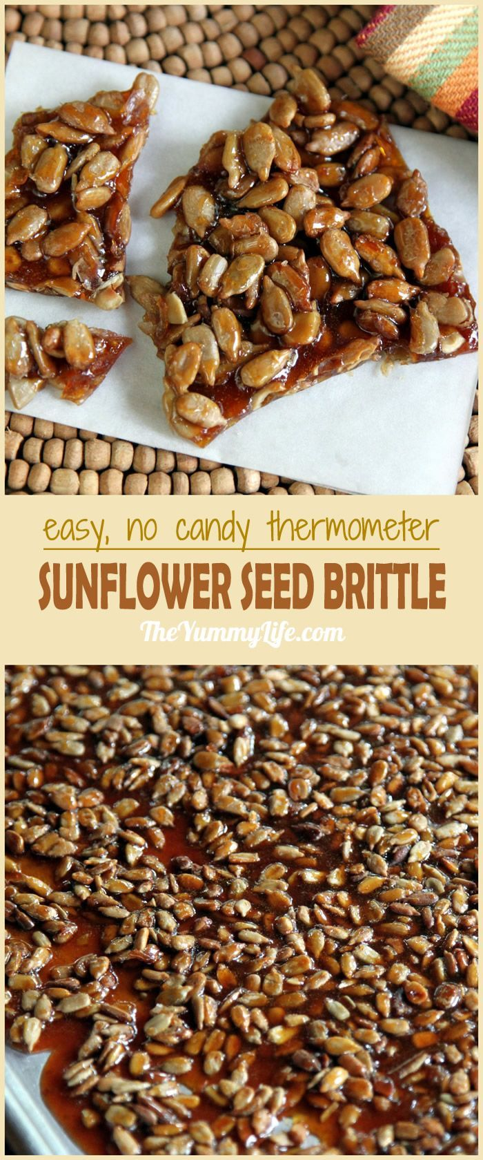 This is an easy method that doesn't require a candy thermometer. The result is a delicious, toasted, nutty brittle. A great Fall party or shower favor, school or office treat. From The Yummy Life.