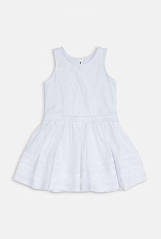 Платье детское для девочек белое - купить в интернет-магазине Acoolakids.ru. Заказать модную брендовую одежду для детей можно по телефону 8 (800)333-83-63 или положив товар в корзину. Сделайте подарок своему ребенку купив ему обновку - платье детское для девочек белое по цене 799 рублей.