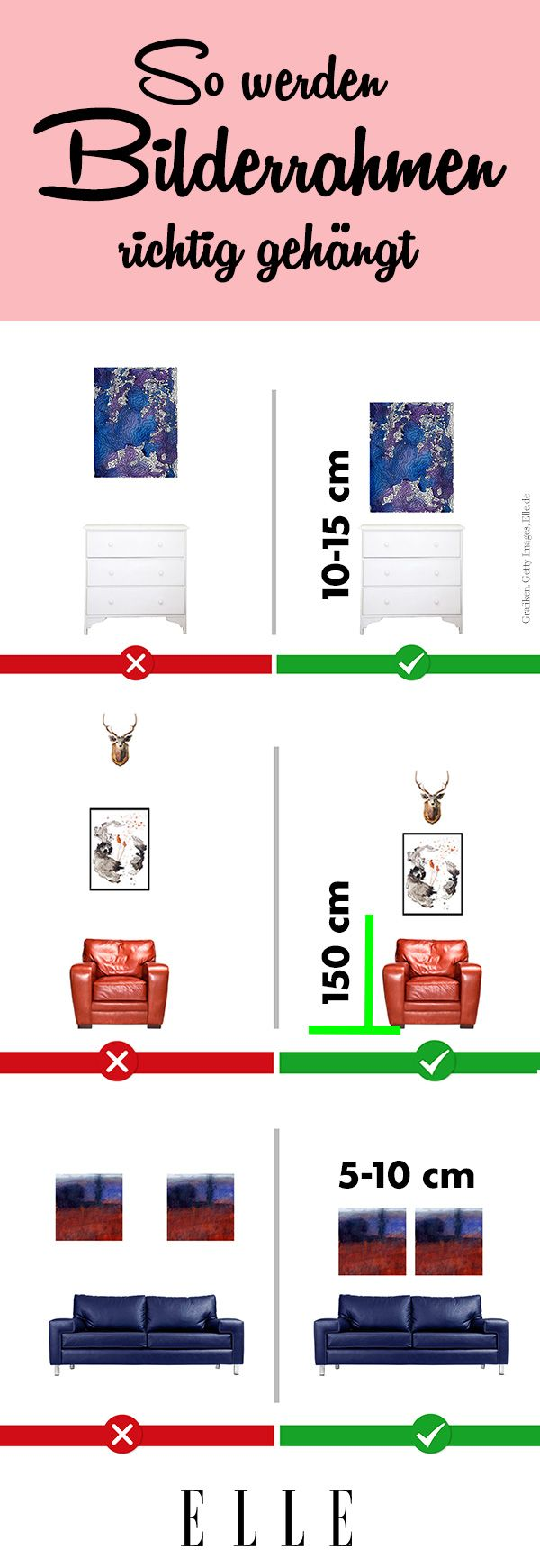 Bilder aufhängen: So findest du die ideale Höhe