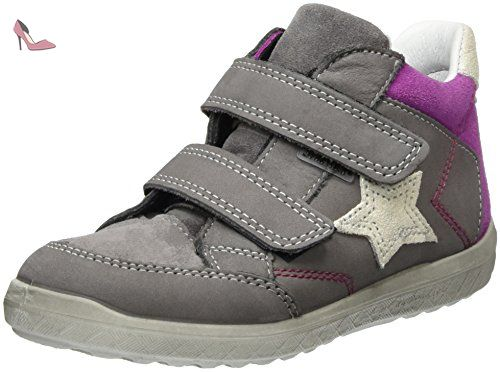 Ricosta Eddy, Sneakers Basses Mixte Bébé, Rose (Fuchsia), 22 EU