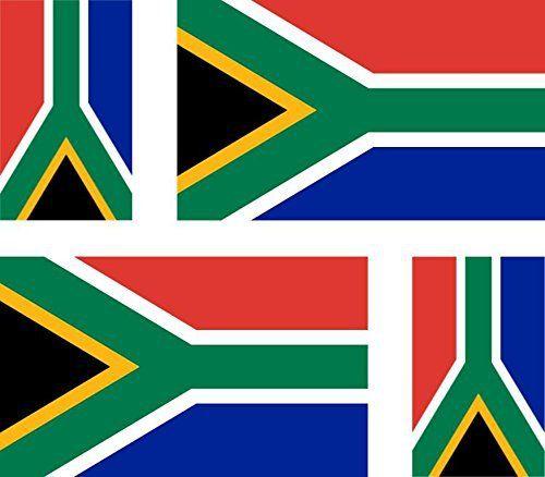 4 x Autocollant sticker voiture moto valise pc portable drapeau afrique du sud a: Taille des stickers : 2 stickers de taille 100mm x 60mm…