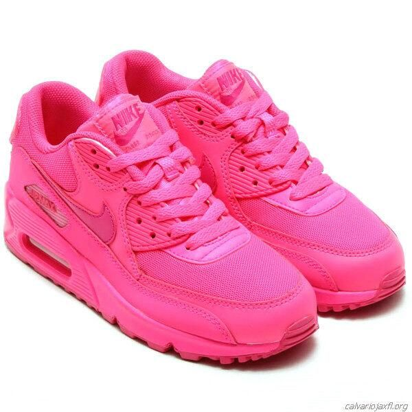 Womens Nike Air Max 90 All Pink Foot Locker Trainers Ladies