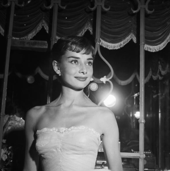 September 14, 1953, California, Westwood, Audrey Hepburn, attending the movie benefit premiere of Roman Holiday. (Photo by Earl Leaf
