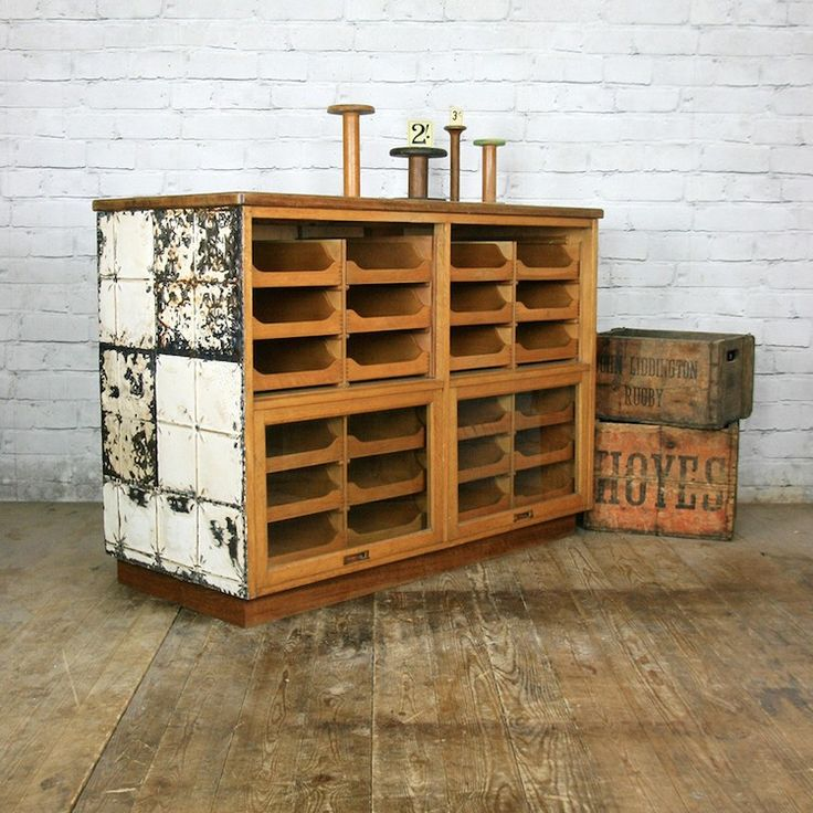 This haberdashery counter is a wonderful mix of textures and shades.