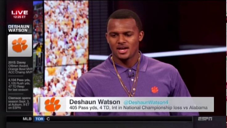Deshaun Watson on ESPN's Sportscenter 07-27-16