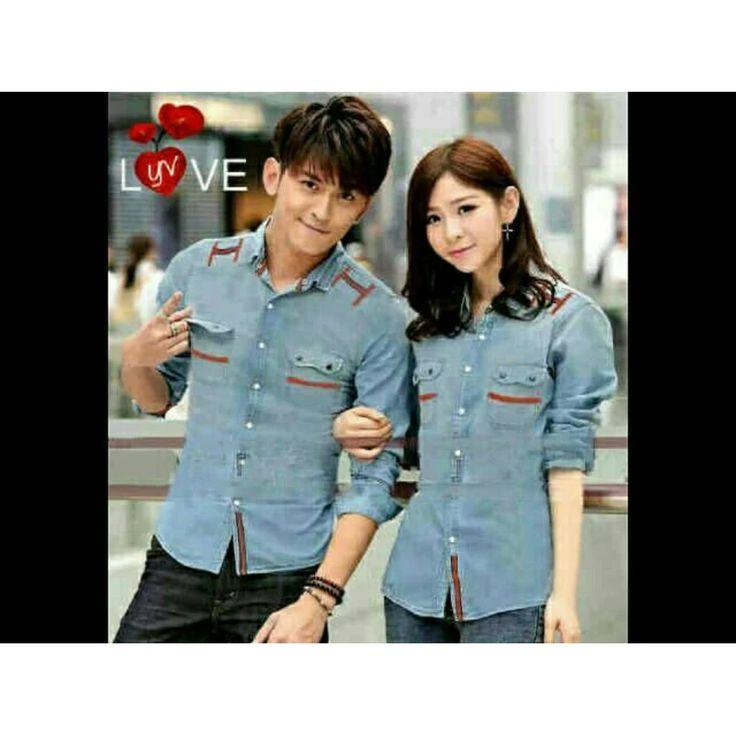 legiONshop - Kemeja Pasangan DENIM LOVE/ Couple Shirt DENIM LOVE | Lazada Indonesia