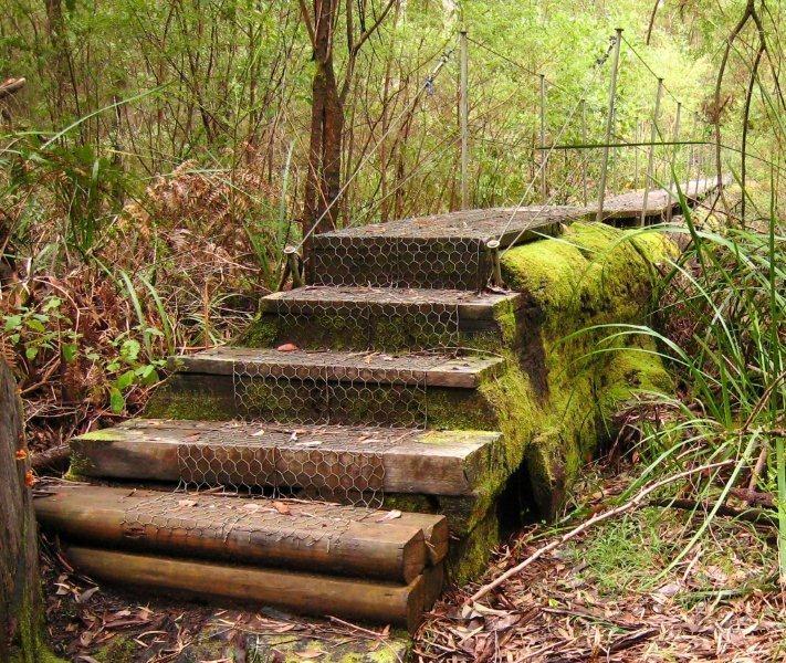 Steps to Wirraway Bridge