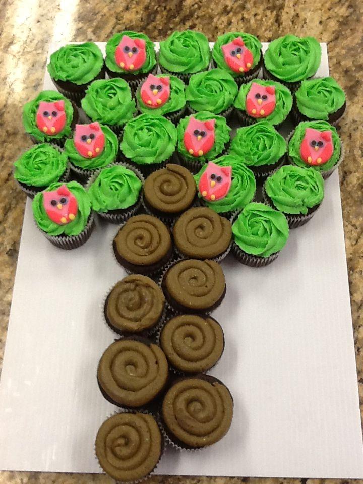 Owl Cupcake Tree My Cakes Pinterest Cupcake Tree And Owl