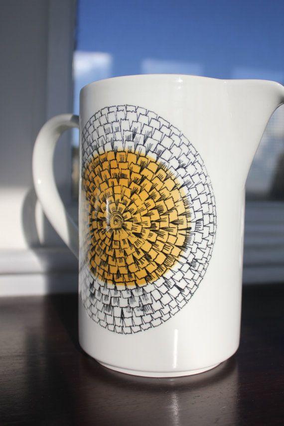 Kehakukka, Marigold pattern pitcher by Arabia Finland on Etsy, $142.07 AUD