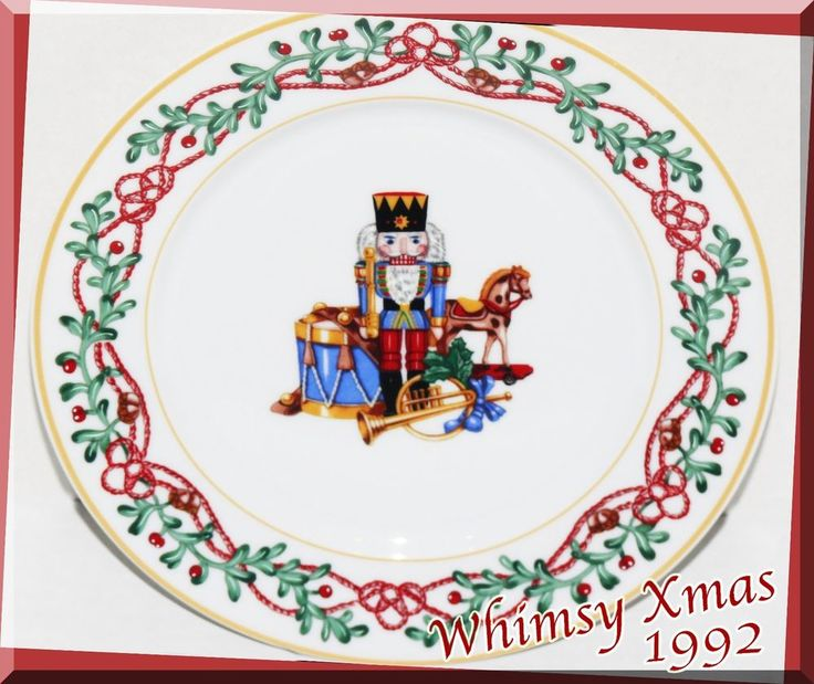 Block Spal Portugal Whimsy Christmas Toy Soldier Nutcracker Salad Plate #5 1992 #BlockSpal