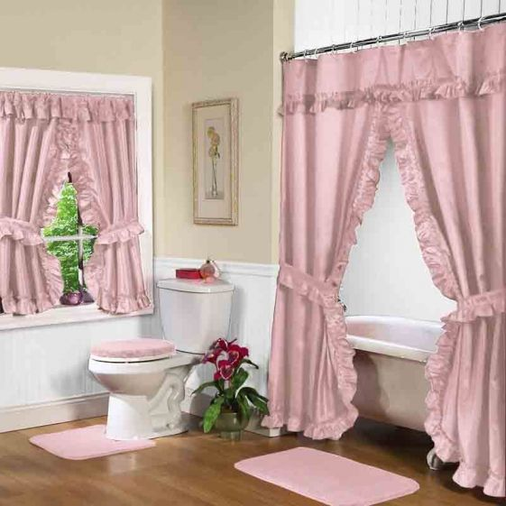 12 Best Images About Double Swag Shower Curtains And Matching Window Curtains On Pinterest