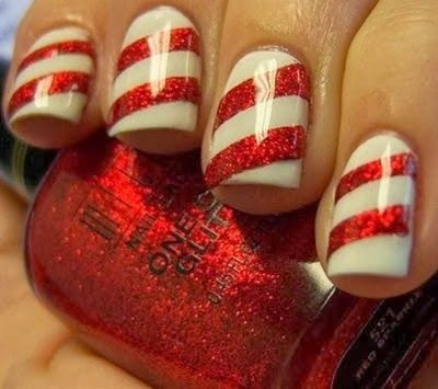 Acrylic Nail Art Essentials: Whoville Candy Cane Gloss Holiday Fingernails