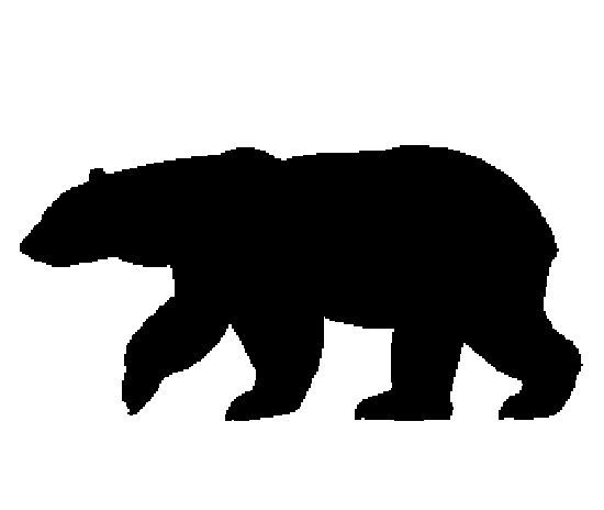 silhouettes of polar nears | Wildlife Metal Wall Art Bear ...