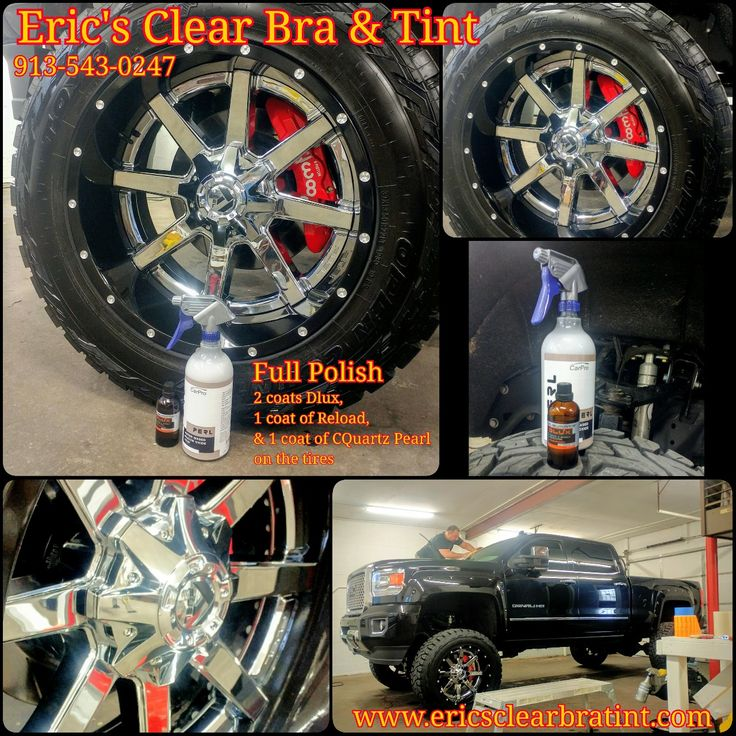 Eric's Clear Bra & Tint in Merriam, KS Truck received Window tint, ceramic coating, blacked out emblems and side markers.  Lifted truck, Duramax, NFL, Chiefs, Kansas City, Tint, Tinting, Window Tint, Clear Bra, Paint Protection, Ceramic Coating, GMC, Sweet truck, FUEL, CQuartz , Kansas, Best clear bra and tint installer in the Midwest www.ericsclearbratint.com