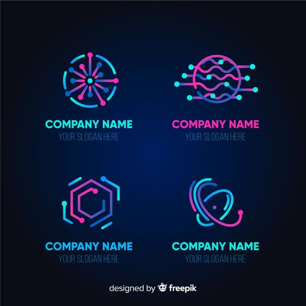 Download Gradient Technology Logo Template Collection For