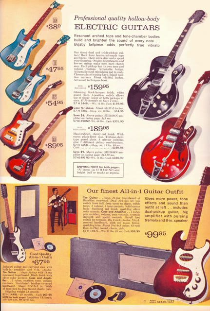 Guitar Age From A Sears Catalog From 1965 1965