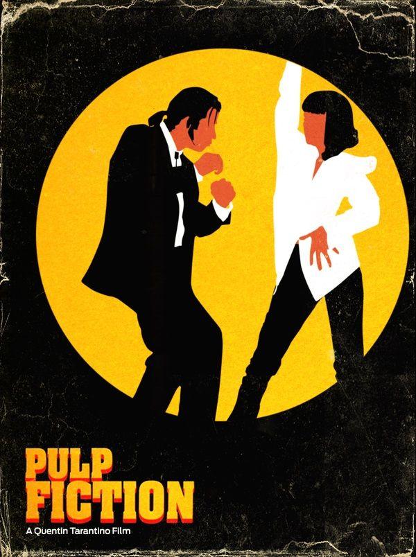 Film Movie Dancing Pulp Fiction Poster John Travolta Quentin Tarantino Twist Mia Wallace Vincent Vega Dance Off