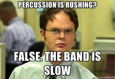 This is so true! Why do they always blame percussion?