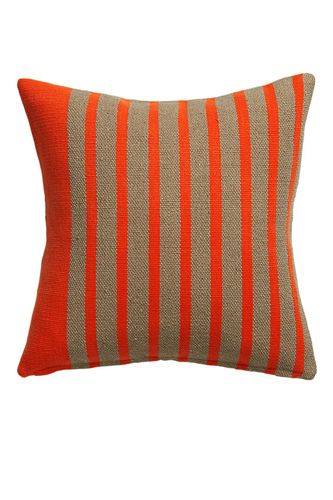 Use red (the Chinese color of luck and happiness) in your details like this graphic pillow rather than furniture or wall colors. A symbol for passion and luxury, oranges and reds are best used in small doses.
