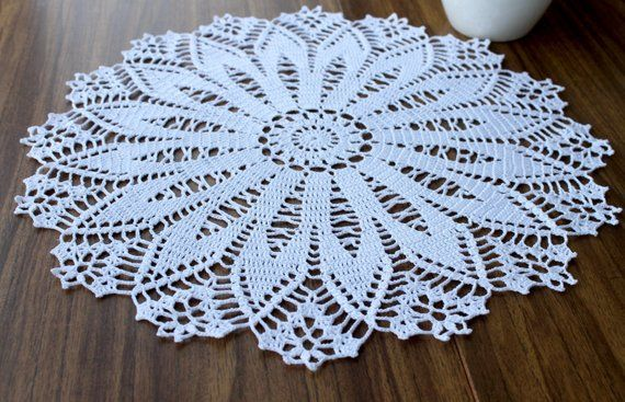 Decor for the table White knitted doily Openwork doily Crochet Fruit, Crochet Food, Delicate Wash, Snowflake Pattern, Learning Toys, Crochet Doilies, Handmade Toys, House Warming, Birthday Gifts