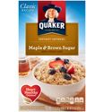 Quaker Instant Oatmeal - Maple and Brown Sugar