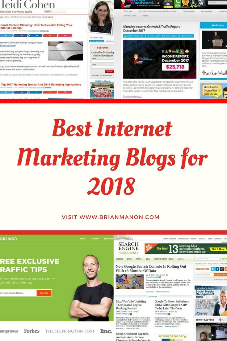 Top Digital Marketing blog of 2018  http://www.brianmanon.com/best-digital-marketing-blogs-for-2018/