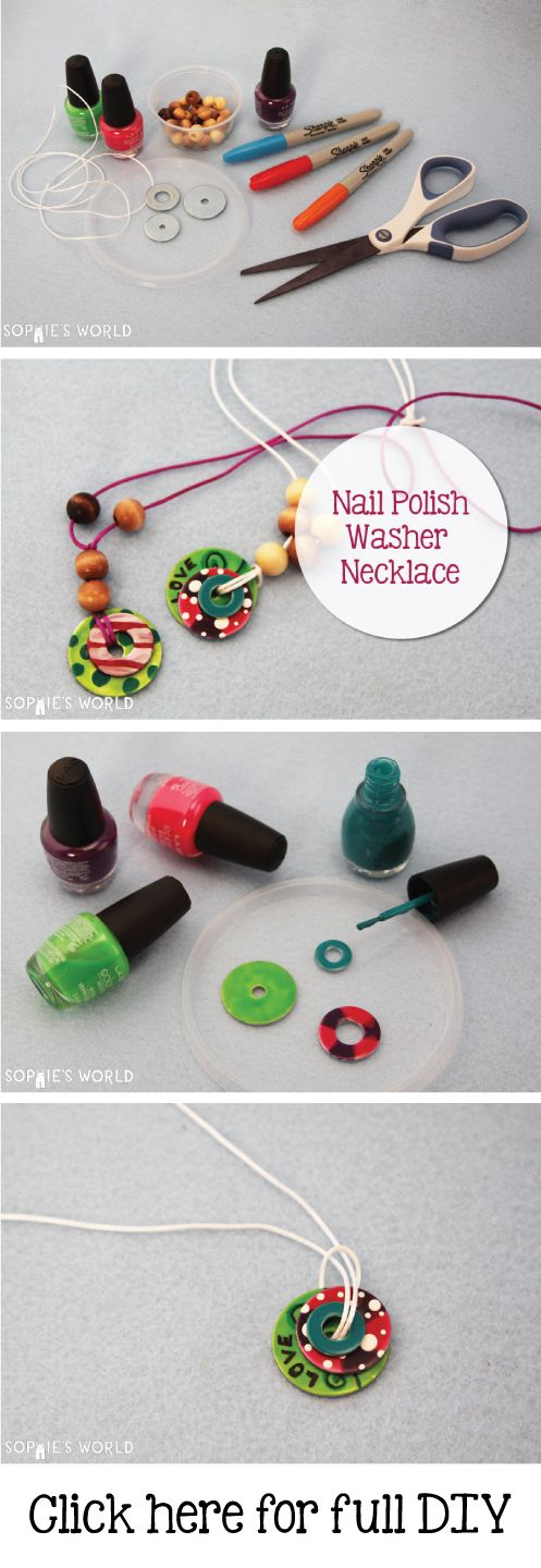 Painted Washer Necklace | Sophie's World…