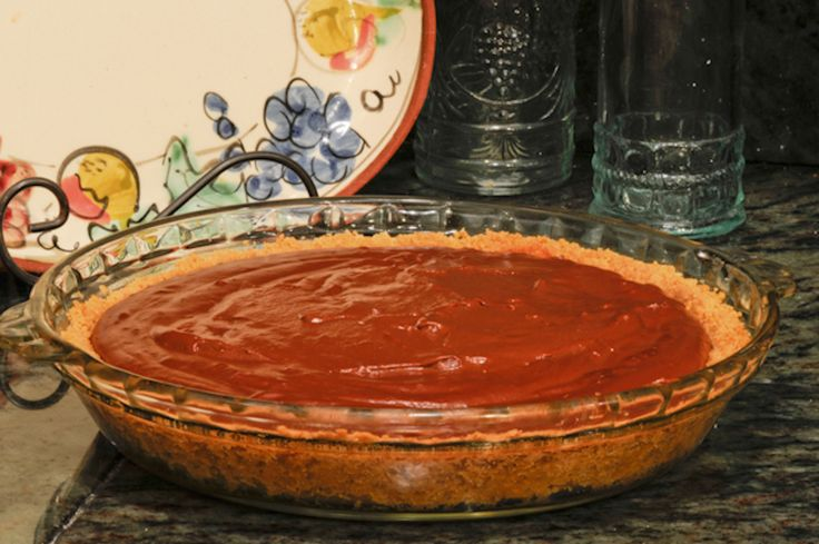 The chocolate pie from the beginning of Julie and Julia. The recipe belongs to the writer and director, Nora Ephron. So good!!