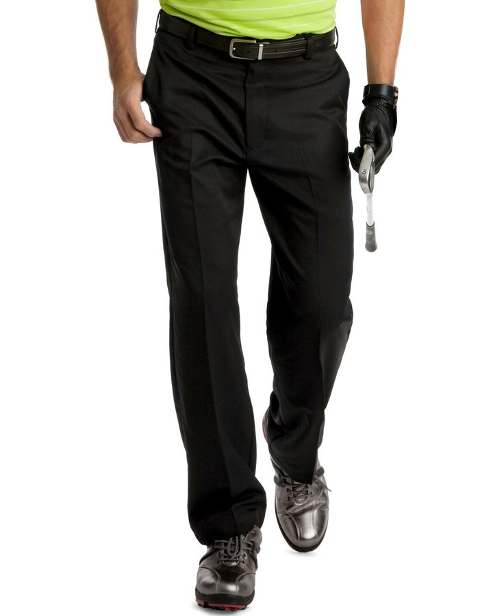 Izod Golf Pants, Flat Front Microfiber Golf Pants