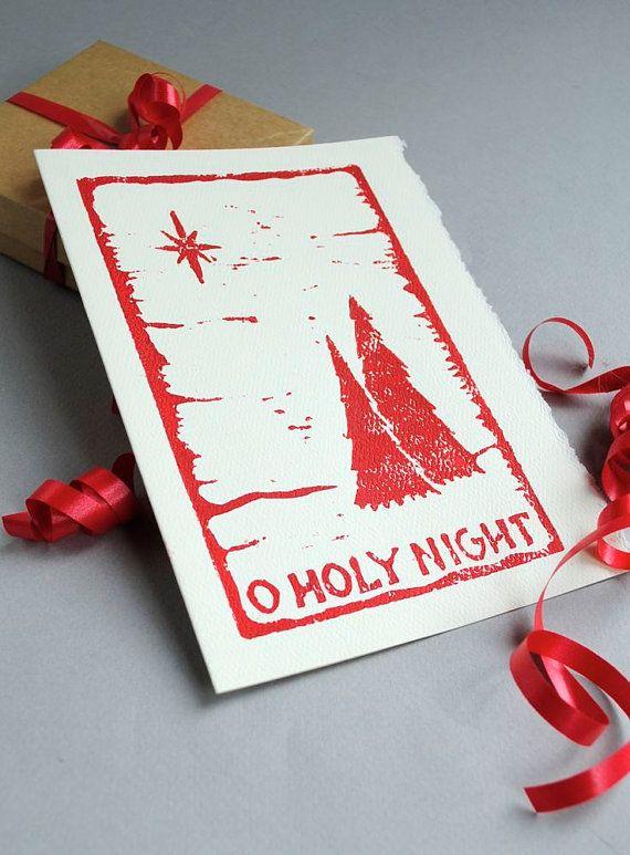 Lovely linocut Christmas cards