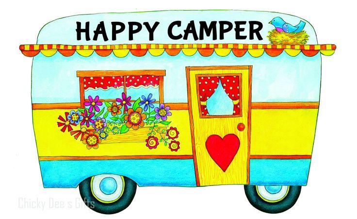 Custom Décor Door Hanger Hang Around HAPPY RV CAMPER