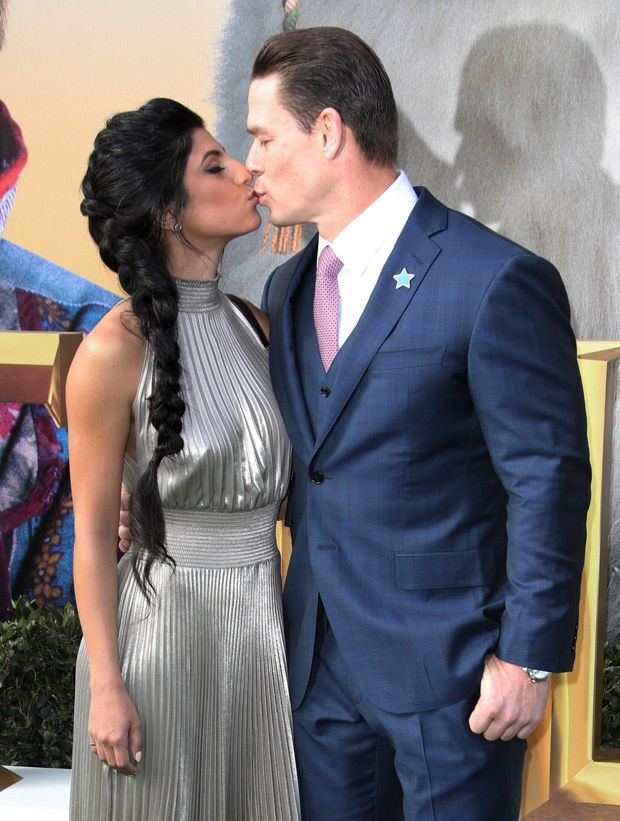 John Cena Packs On The Pda With Gf Shay One Week After Ex Nikki Bella Announces Engagement What A Beautiful Couple John Cena A In 2020 John Cena Nikki Bella Premiere