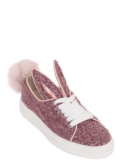 TAIL SEQUIN WOOL SNEAKERS
